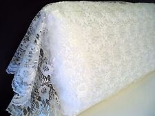 ORGANZA LACE Pillowcase Sham Daytime Cover KING IVORY All Lace by UtaLace NEW