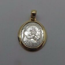 STUNNING 14K 2TONE FIRST COMMUNION RELIGIOUS PENDANT A8178-3  2.48 grams