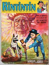 MENSUEL RINTINTIN n°10 ¤ AVEC VIGNETTES INDIENS INCLUS ¤ 1970 SAGEDITION