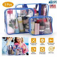 3 Pcs Clear Makeup Bag Waterproof Women Fashion Handbag Travel Toiletry Storage