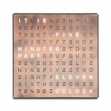 Sharper Image Light Up Electronic Word Clock, Copper Finish with LED Light Di...