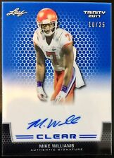 2017 Trinity #CA-MW1 Mike Williams Autograph Blue Ace. RC 10/25 Clemson Chargers