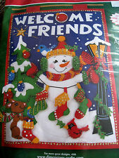 Dimensions Christmas Felt Applique DOOR WALLHANGING Kit,GIFT GIVER BANNER,8143