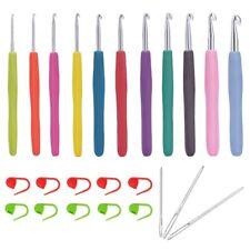 New listing 24Pcs Crochet Hooks Set, Ergonomic Soft Handles, Smooth Needles for Superio T4U4