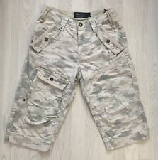 Next Mens 3/4 Length Trousers Army Print Size 28 Inch W