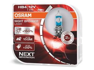 HB4 (9006) OSRAM Night Breaker LASER (NBL) Halogen Headlight Bulbs 9006NL