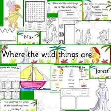 WHERE THE WILD THINGS ARE -teaching resources on CD- EYFS, KS1, sack