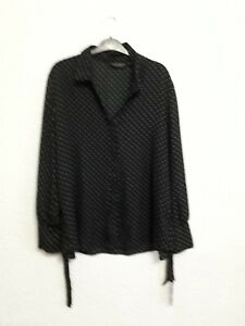size 18 black spotted blouse from Dorothy Perkins