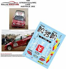 DÉCALS 1/18 réf 1468 CITROEN Xsara WRC LOEB AUSTRALIE  2002