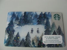 CARTE CADEAU-GIFT CARD-STARBUCKS-USA-n°6112-2015-enfants-noel-piste ski