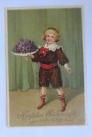 """Geburtstag, Kinder, Blumen""  1913, Prägekarte ♥"