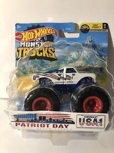 Hot Wheels Monster TRUCKS CUSTOM PATRIOT DAY USA-1 REMEMBER 9-11 MONSTER TRUCK