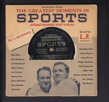 Greatest Moments in Sports 33 1/3 LP Ruth-Gehrig-Mel Allen Sounds and quotes