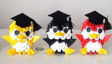 DIY 3D Origami Penguin Scholar Kit - Paper Modules - New A Set of Three