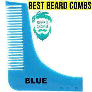 BLACK BROWN Beard Styling Shaping Comb Shaper Shaving Stencil Template Tool Set