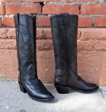 Ladies Black Cowgirl Cowboy Boots size 7B Made in USA by Caboots