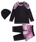 Mother  Daughter Swimwear Modest Muslim Islamic Burkini Beachwear Parent-Child