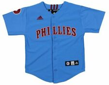 Adidas MLB Youth Philadelphia Phillies Cooperstown Collection Jersey, Blue