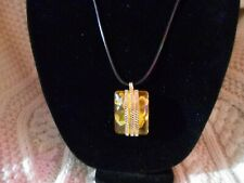 Irish Celtic Yellow Amber Necklace