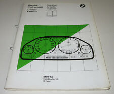 Seminar Schulungsunterlage BMW 7er E32 / E 32 Kombiinstrument Checkcontrol 1986!