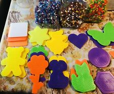 Lot of Perler Fun Fusion Beads 22 Molds