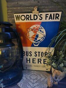worlds fair 1964 metal sign