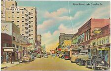 View on Ryan Street in Lake Charles LA Postcard