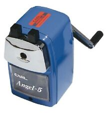 Carl Angel A5 Pencil Sharpener BLUE with no desk clamp