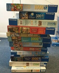 RAVENSBURGER PUZZLE JOBLOT X 13 PUZZLES USED GOOD CONDITION (W2)