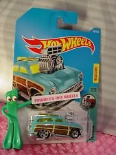SURF 'N TURF #300☆turquoise;Woody Panel;5sp☆TOONED☆2017 i Hot Wheels New ☆Case N