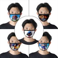 5x Cartoon Super Sonic The Hedgehog Cartoon Cotton Cloth Masks Face Mouth Cover
