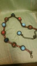 CHICO'S BELT WITH STONE LIKE MEDALLIONS BOHO