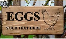 Personalised Free Range EGGS FOR SALE SIGN Plaque Plate egg box fresh chicken