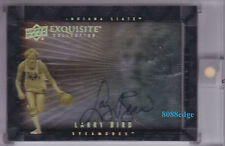 2013-14 EXQUISITE DIMENSIONS AUTO: LARRY BIRD #D-LB SHADOW BOX AUTOGRAPH HOF