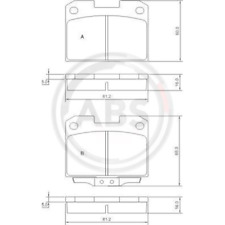 Set of Brake Pads Disc Brake - a. B. S.36890