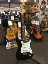 Sunn Mustang Electric Guitar - Black Strat Copy Licensed by Fender