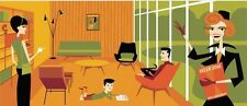 """SHAG Josh Agle """"Welcome to Your New Lifestyle"""" Serigraph Art Print COA MCM S/N"""