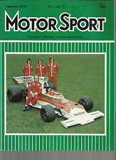 MOTOR SPORT FEB 1974 VAUXHALL MAGNUM 2300 ESTATE JENSEN INTERCEPTOR EMERSON FITT