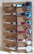 24 Vintage Shield Shape Tie Clasp Clips Old Store Stock