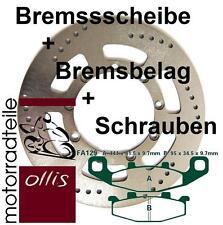 EBC front brake rotor + Brake pads + bolts-Kawasaki KLE 500-Stainless Steel