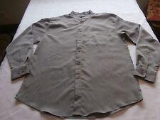 Damante men's button down gray dress shirt XL polyester satin style Very Nice