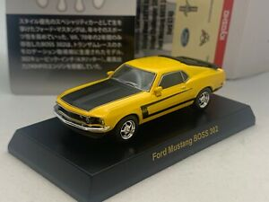 Ford Mustang BOSS 302 yellow Kyosho 1/64 Die-cast part.2