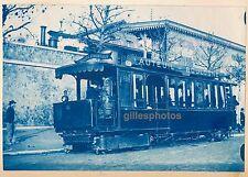 Cyanotype Tramway Vapeur c. 1900 -  Auteuil Boulogne - 89