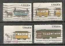 STREET CARS #2059-2062 Used US 1983 Commemorative 20c Stamp Set