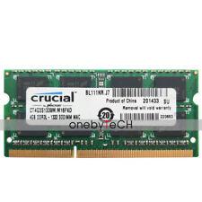 Crucial 4GB (1X4GB) PC3L-10600 DDR3L 1333Mhz 204-pin 1.35v SODIMM Laptop Memory