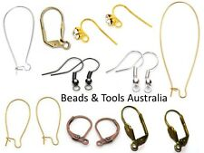 EARRING HOOKS - Asst Colours and Styles Hypo-allergenic Earring Hook Lever Back