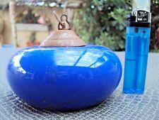 Ancienne cloche anti feu de lustre plafonnier lampe à pétrole en porcelaine