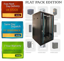 22U SERVER RACK DATA NETWORK19 INCH 600 (W) x 600 (D) x 1200 (H)  FLAT PACK