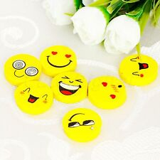 4×Funny Cute Smiling Face Rubber Pencil Eraser Kids Students Stationery Gift Toy