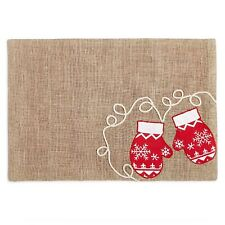 """New listing Homewear Snowy Mittens 13"""" x 19"""" Placemat"""